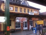 Flen train station on way to Oslo